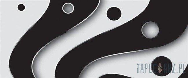 Fototapeta na flizelinie Czarno-biały wzór 2612VEP
