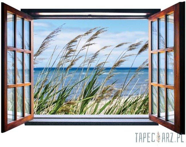 Fototapeta na flizelinie Nadmorska trawa przez otwarte okno 2072