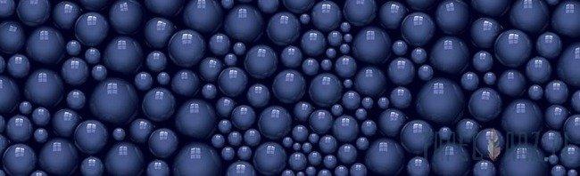 Fototapeta na flizelinie Niebieskie kule 3d 2672VEE