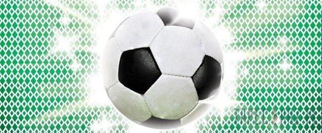 Fototapeta na flizelinie Piłka nożna na geometrycznym wzorze 477VEP