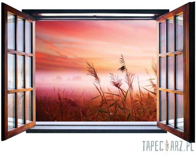 Fototapeta na flizelinie Poranek na łące przez otwarte okno 2076