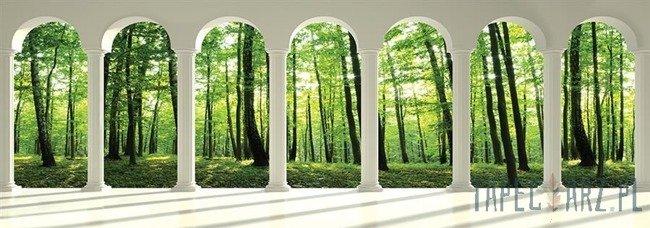 Fototapeta na flizelinie Widok przez kolumny na las 2676VEE