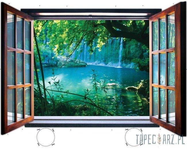 Fototapeta na flizelinie Wodospad przez otwarte okno 1937
