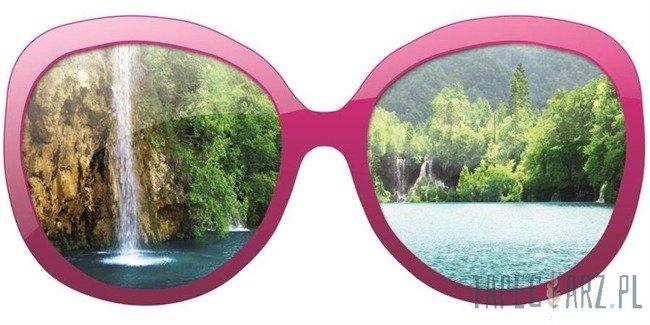 Fototapeta na flizelinie Wodospad przez różowe okulary 722