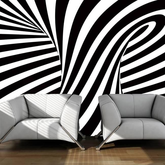 Fototapeta - op art: czarno-biały