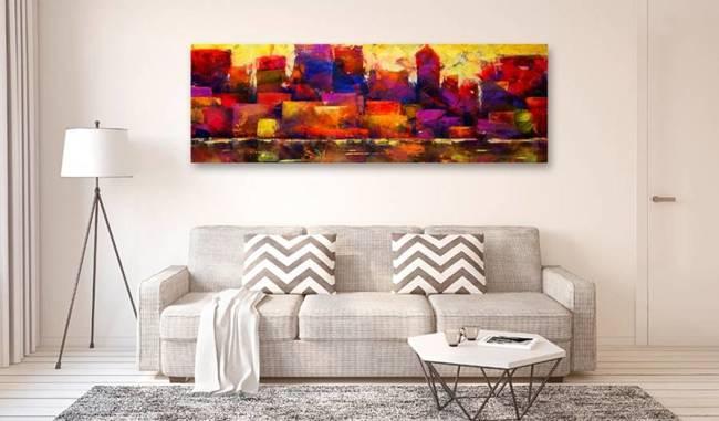 Obraz - Kolorowa panorama miasta