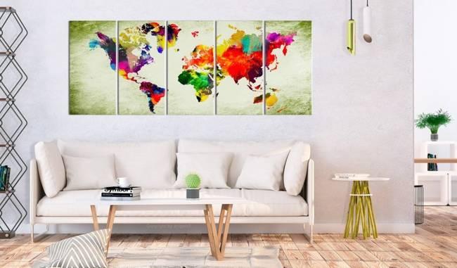 Obraz - Kolorowe kontynenty