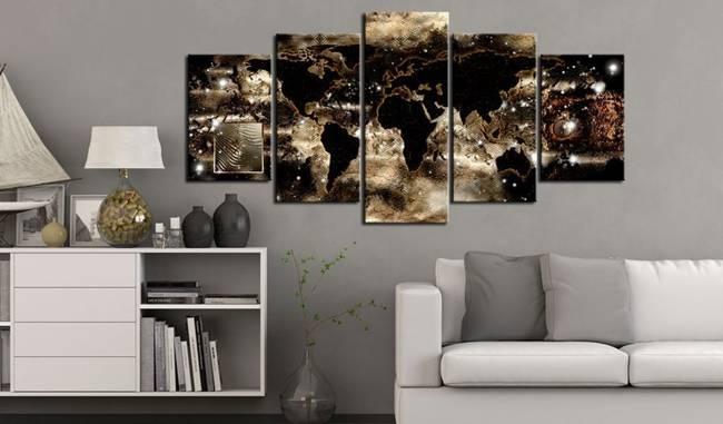 Obraz - Kontynenty i gwiazdy
