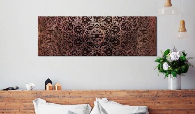 Obraz - Mandala: Bursztynowa cisza