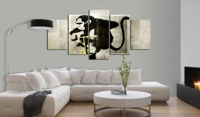 Obraz - Monkey TNT Detonator (Banksy)