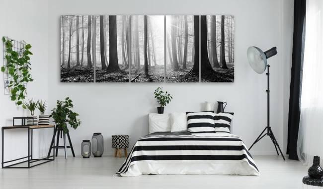 Obraz - Monochromatyczny las