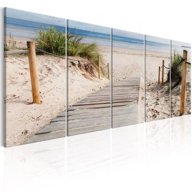 Obraz - Plaża po deszczu