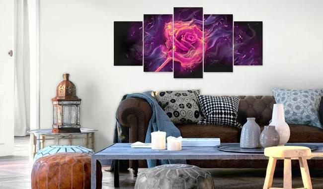 Obraz - Płomienie róży