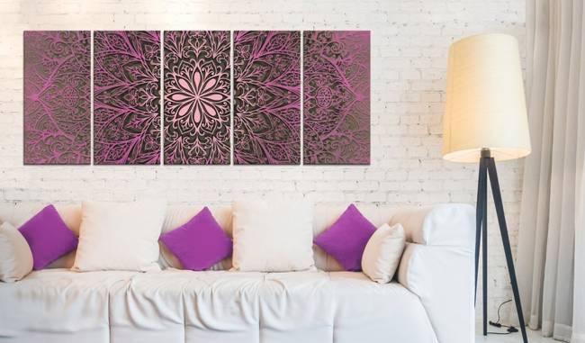 Obraz - Różowa Mandala
