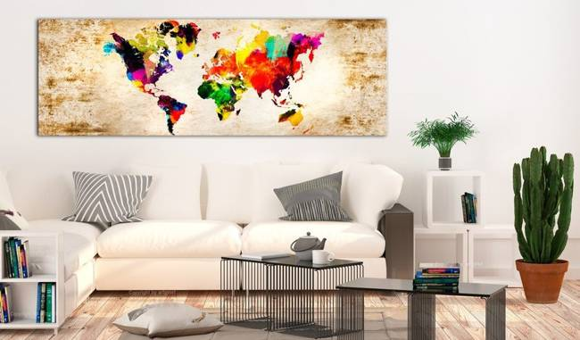 Obraz - Świat w akwarelach