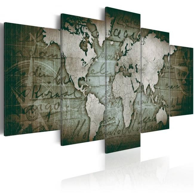 Obraz - Szmaragdowa mapa