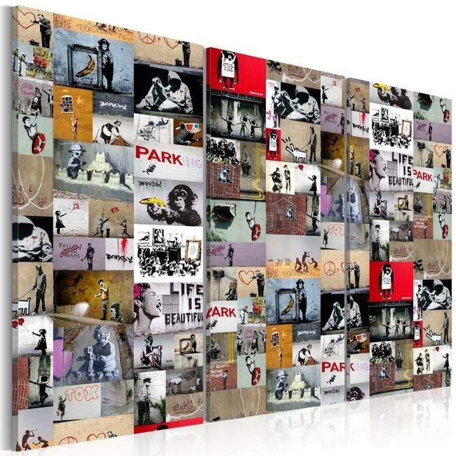 Obraz - Sztuka kolażu: Banksy III
