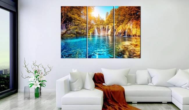 Obraz - Wodospady słonecznego lasu