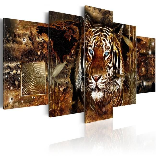 Obraz - Złota dżungla