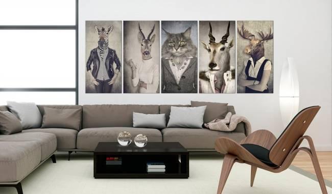 Obraz - Zwierzęce maski I