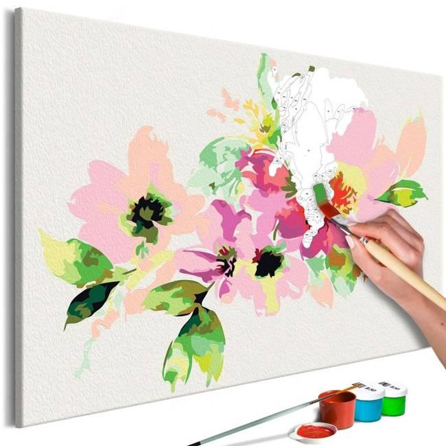 Obraz do samodzielnego malowania - Kolorowe kwiatki