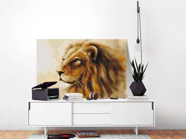 Obraz do samodzielnego malowania - Król lew