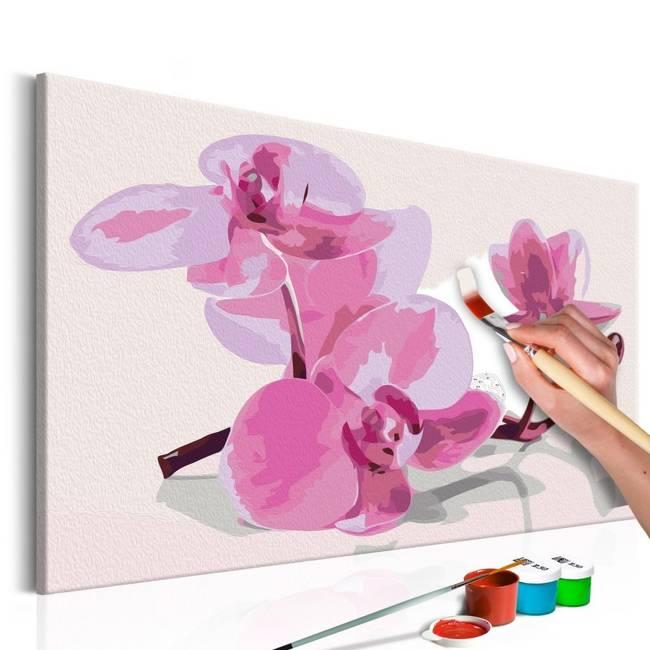 Obraz do samodzielnego malowania - Kwiaty orchidei