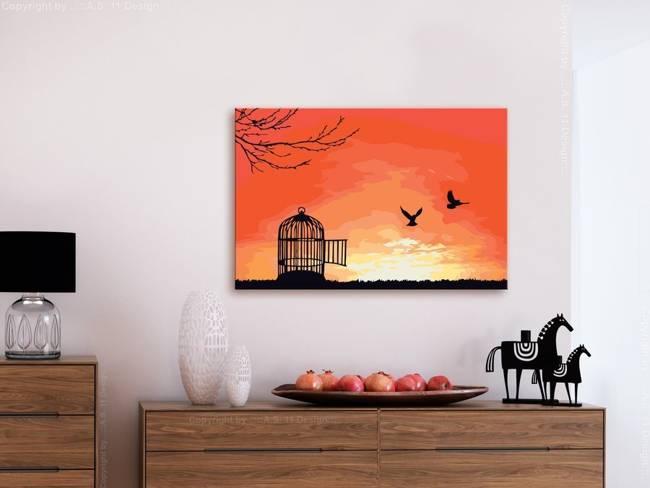 Obraz do samodzielnego malowania - Otwarta klatka