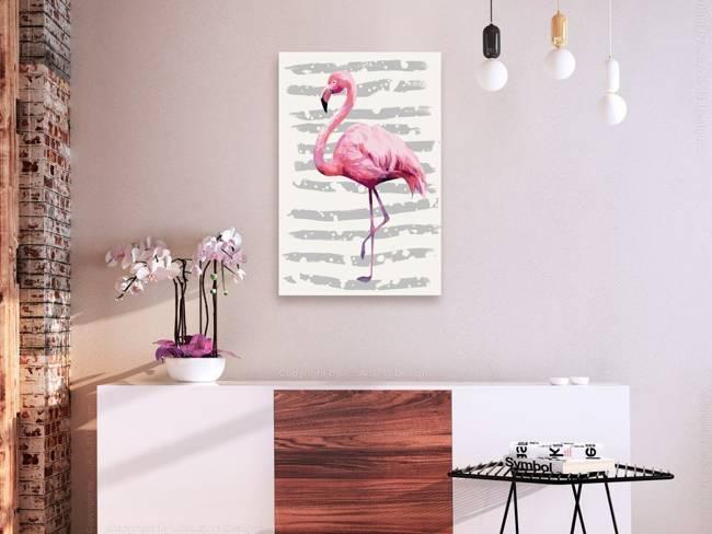 Obraz do samodzielnego malowania - Piękny flaming