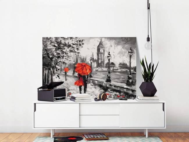 Obraz do samodzielnego malowania - Zakochani w Londynie