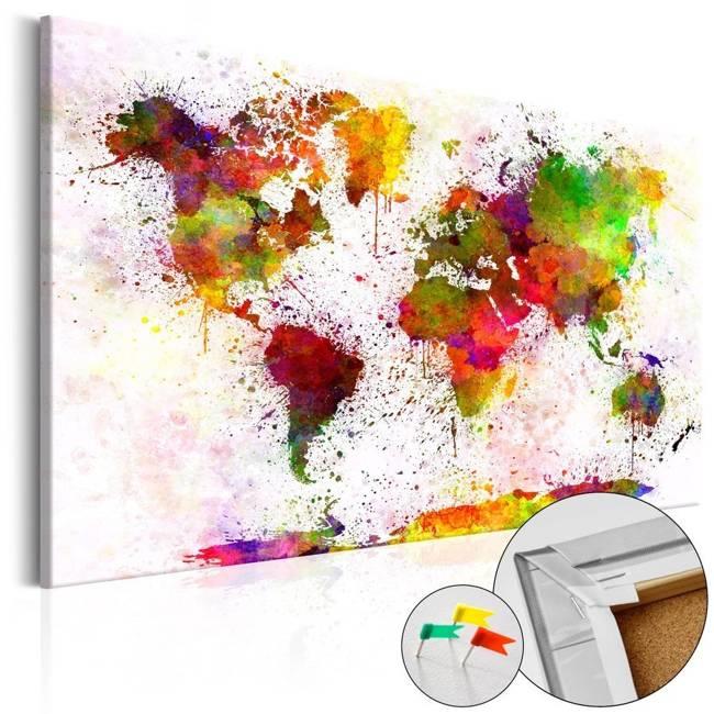 Obraz na korku - Artystyczny świat [Mapa korkowa]
