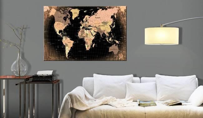 Obraz na korku - Kraina Ziemia [Mapa korkowa]