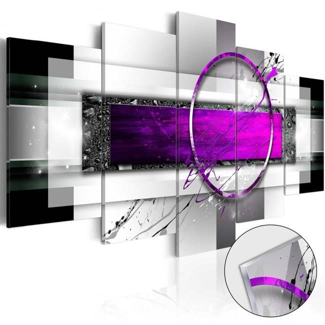 Obraz na szkle akrylowym - Fioletowa obręcz [Glass]