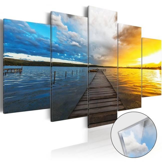Obraz na szkle akrylowym - Jezioro ze snów [Glass]