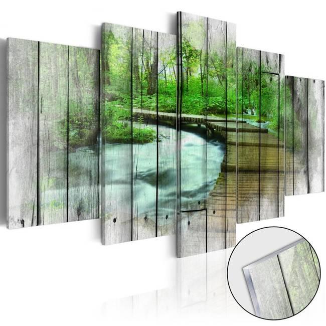 Obraz na szkle akrylowym - Las tajemnic [Glass]