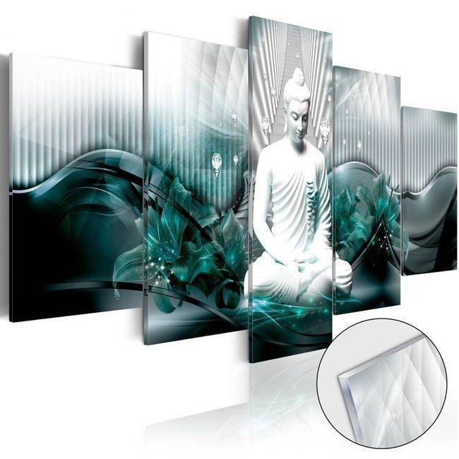 Obraz na szkle akrylowym - Lazurowa medytacja [Glass]