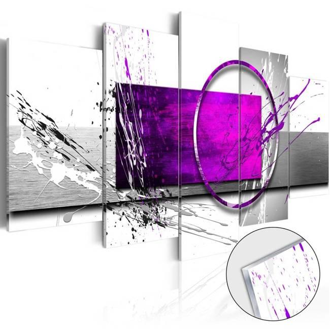 Obraz na szkle akrylowym - Purpurowa ekspresja [Glass]
