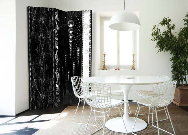Parawan 3-częściowy - Czarna elegancja [Room Dividers]