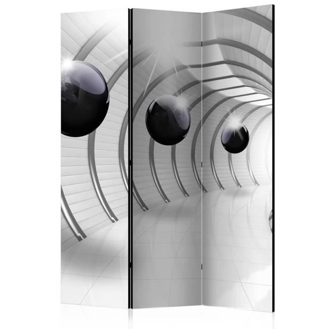 Parawan 3-częściowy - Futurystyczny tunel [Room Dividers]