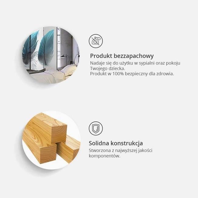 Parawan 3-częściowy - Geometryczny kosmos [Room Dividers]