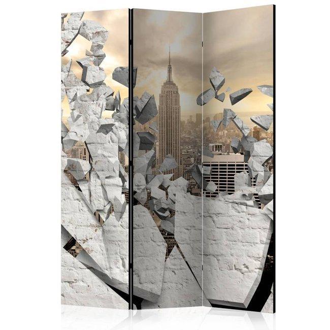 Parawan 3-częściowy - Miasto za ścianą [Room Dividers]