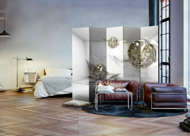 Parawan 5-częściowy - Abstrakcyjne diamenty II [Room Dividers]