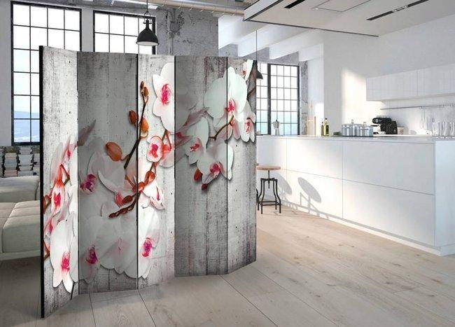 Parawan 5-częściowy - Betonowa orchidea II [Room Dividers]