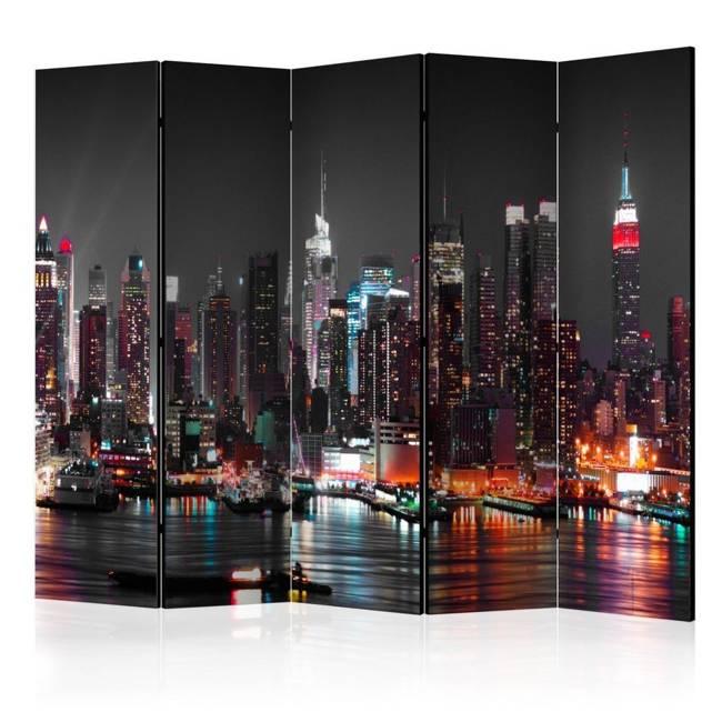 Parawan 5-częściowy - Bezsenność w Nowym Jorku II [Room Dividers]