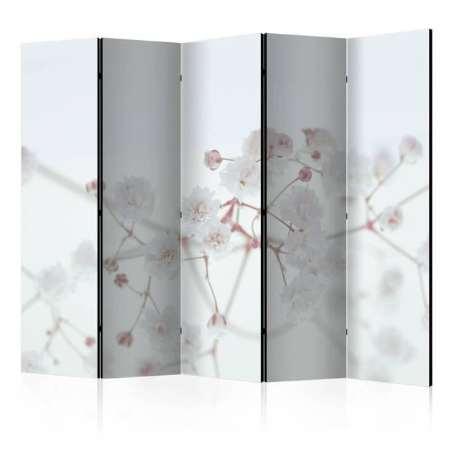 Parawan 5-częściowy - Białe kwiaty II [Room Dividers]