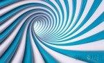 Fototapeta Biało-niebieski tunel 3D 2150