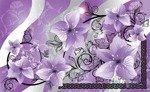 Fototapeta Fioletowe kwiaty 1232