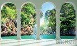 Fototapeta Widok na turkusową zatokę przez kolumny 2352