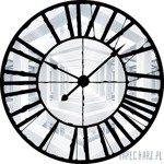 Fototapeta Widok przez zegar na biały korytarz 10161