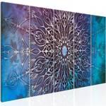 Obraz - Centrum (5-częściowy) wąski niebieski